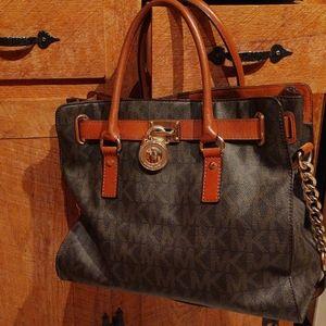Michael Kors Hamilton NS Signature PVC Satchel Bag